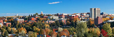 Wsu Autumn Panorama Art Print by David Patterson