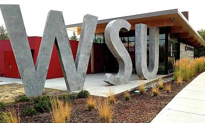 Photograph - Wsu Brelsford Welcome Center by Jerry Sodorff