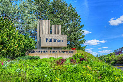 Photograph - Wsu Welcome To Pullman by Spencer McDonald