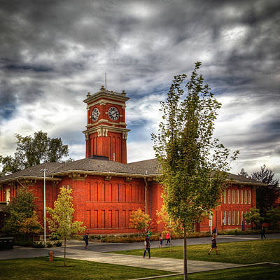 Photograph - Wsu's Bryan Hall - Pullman Washington by David Patterson