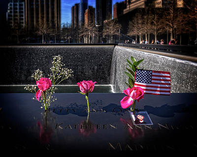 Photograph - Wtc Memorial by Alan Raasch