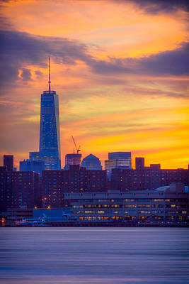 Photograph - Wtc Sunset by Mark Robert Rogers