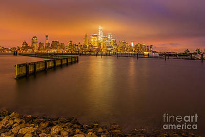 Wtc Sunsets Photograph - World Trade Center Twilight by Abe Pacana