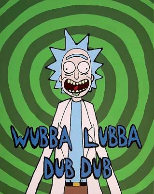 Wubba Lubba Dub Dub Art Print by Andy White
