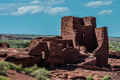 Photograph - Wukoki Pueblo Ruins Wupatki National Monument by NaturesPix