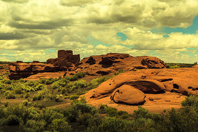 Photograph - Wupatki Pueblo Ruins by Ben Graham