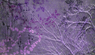 Digital Art - Wuthering Heights Cool Purples by Nancy Lorene