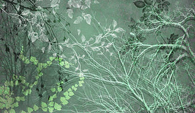 Digital Art - Wuthering Heights Green Scene by Nancy Lorene