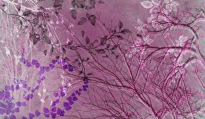 Digital Art - Wuthering Heights Parisian Plum by Nancy Lorene