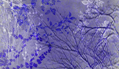Digital Art - Wuthering Heights Pure Purple by Nancy Lorene