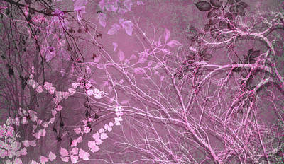 Digital Art - Wuthering Heights Rose Chic by Nancy Lorene