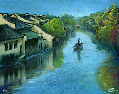 World No. 1 Painting - Wuzhen Time by Time Lin