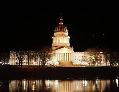 Photograph - Wv Capital Building by B Wayne Mullins