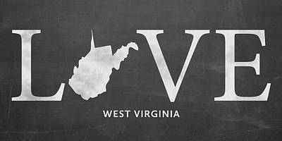 West Virginia University Mixed Media - Wv Love by Nancy Ingersoll