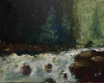 Painting - Wv White Water by Justin Lee Williams
