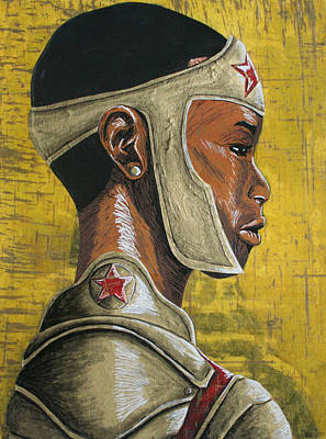 Mixed Media - Ww Awaiting Battle by Rufus Royster