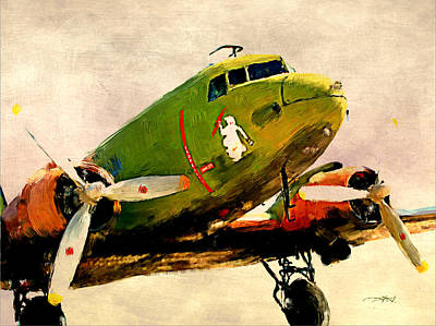 Dc-3 Painting - 1940s Dc-3 by Tim Tompkins