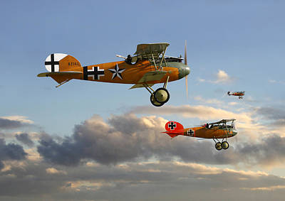 World War One Digital Art - Ww1 - Fighting Colours 3 by Pat Speirs