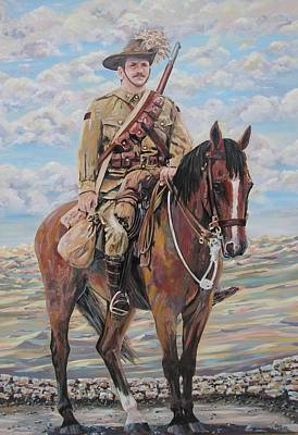 Ww1 Lighthorse At Beersheba Art Print by Leonie Bell