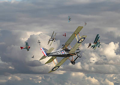 Ww1 - 'wings' Art Print by Pat Speirs