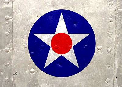Digital Art - Ww2 Army Air Corp Insignia by John Wills