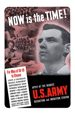 Ww2 Army Recruiting Poster Art Print by War Is Hell Store