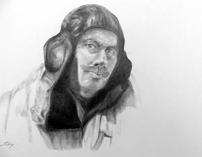 Ww2 Aviator Art Print by Susan Tilley