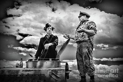 Photograph - Ww2 German Tank Commander by Paul Ward