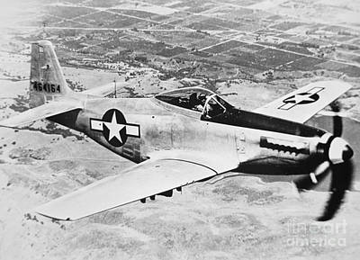P-51 Mustang Photograph - Ww2 North American P51 Mustang by American School