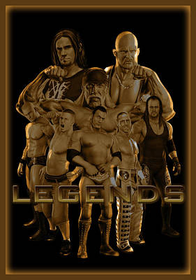 Wwe Legends By Gbs Art Print by Anibal Diaz