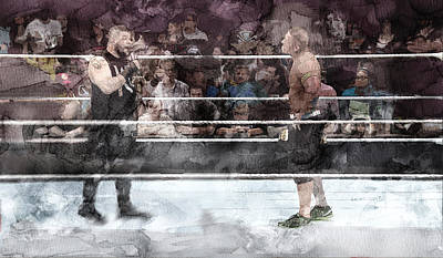 Wwe Wrestling 101 Art Print by Jani Heinonen