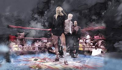 Evansville Drawing - Wwe Wrestling 21 by Jani Heinonen