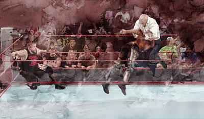 Wwe Wrestling 26 Art Print by Jani Heinonen