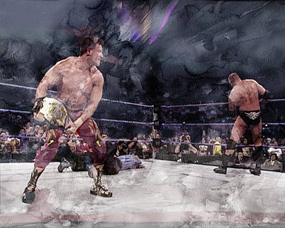 Evansville Drawing - Wwe Wrestling 301 by Jani Heinonen