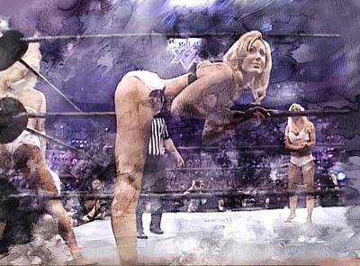 Evansville Drawing - Wwe Wrestling 347 by Jani Heinonen