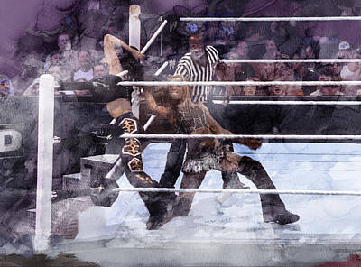 Wwe Wrestling 85 Art Print by Jani Heinonen