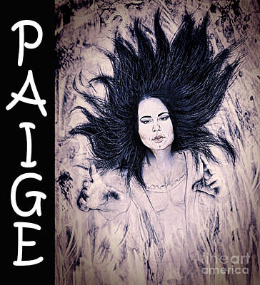 Superstar Drawing - Wwe Wrestling Superstar Paige by Jim Fitzpatrick