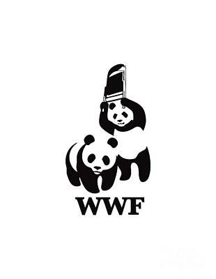 Wwf Panda Art Print
