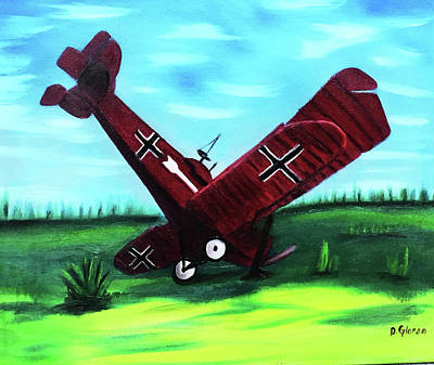Painting - Wwi-biplane by Dean Glorso