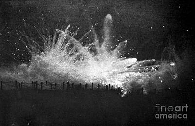 Ypres Photograph - Wwi, German Barrage, Second Battle by Science Source