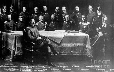 Wwi, Kaiser Wilhelm II With Generals Art Print by Science Source