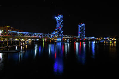 Photograph - Wwi Memorial Bridge Blue by Tim Kirchoff