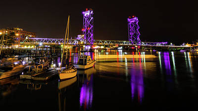 Photograph - Wwi Memorial Bridge Purple by Tim Kirchoff