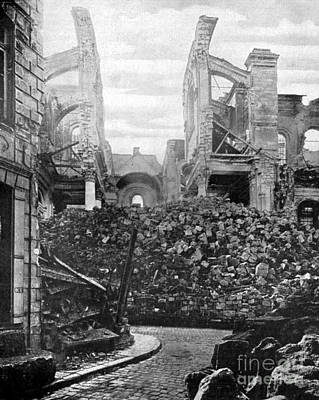 Arras Photograph - Wwi, Ruins Of Arras Cathedral by Science Source
