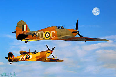 Hurricane - Spitfire Fighters Original by Michael Rucker