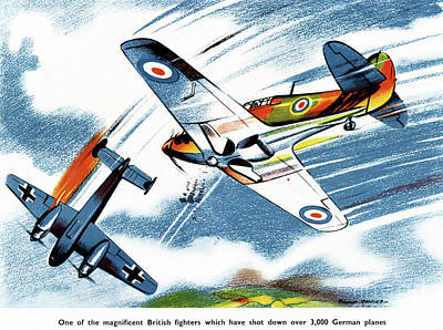 Drawing - British Fighter, C1943 by Granger