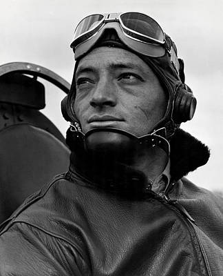 Photograph - Wwii Marine Corps Ace Major Smith by Historic Image