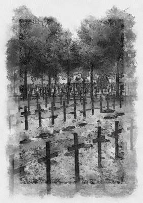 Poland Painting - Wwii Poland Military Cemetery by Esoterica Art Agency