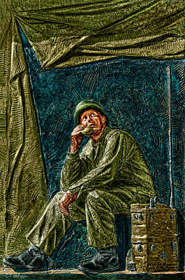 Photograph - Wwii Radioman by Christopher Holmes