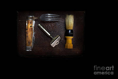 Photograph - Wwii Shaving Kit by DS Dodd
